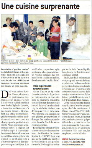 Le Bien Public , 17/10/2012
