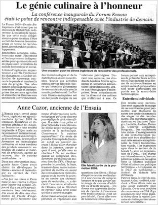 L'Est Républicain, 27/09/2009