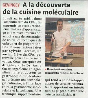 Le Progrès, 05/12/2012